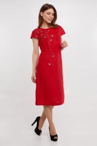 Сукня «Веліна» червоного кольору