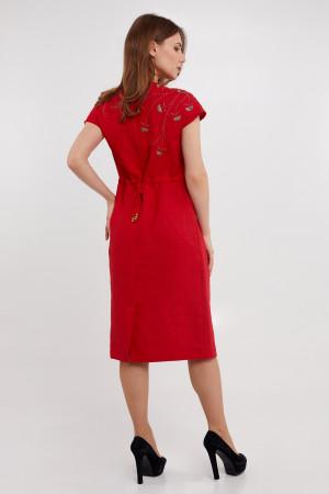 Платье «Велина» красного цвета