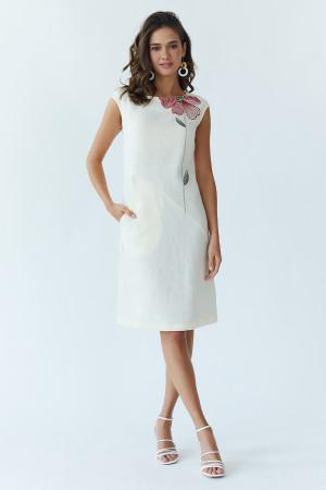 Сукня «Східна квітка» молочного кольору