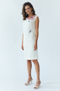 Платье «Восточный цветок» молочного цвета