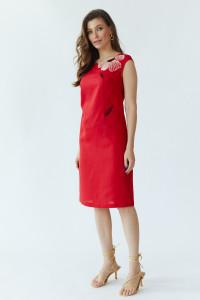 Сукня «Східна квітка» червоного кольору