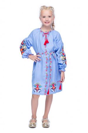 Платье для девочки «Сона» голубого цвета