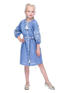 Платье для девочки «Иванна» голубого цвета