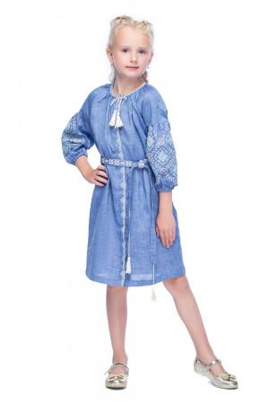 Сукня для дівчинки «Іванна» блакитного кольору