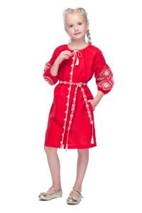Платье для девочки «Иванна» красного цвета