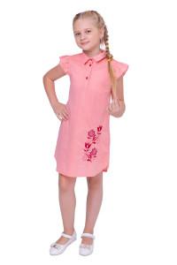 Платье для девочки «Агния» кораллового цвета