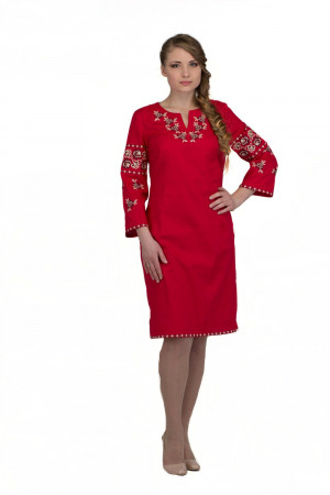 Сукня «Ружа» червоного кольору