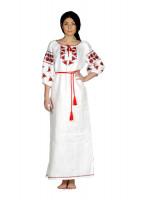 Сукня «Ружа» білого кольору, довга