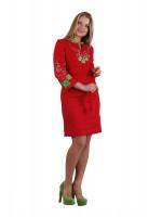 Сукня «Мальва» червоного кольору