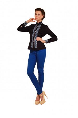 Блуза «Звенислава» темно-синя