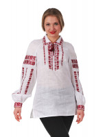 Вишиванка «Любослава» з червоним орнаментом