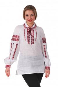 Вышиванка «Любослава» с красным орнаментом