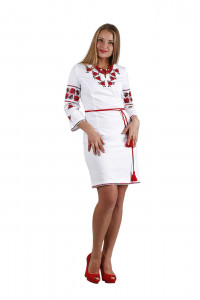 Платье «Ружа» белого цвета