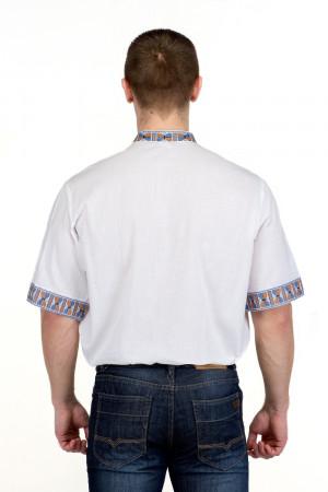 Вишиванка «Гетьман» з блакитним орнаментом КР