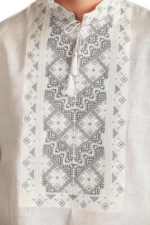 Вишиванка «Творимир» з сірим орнаментом
