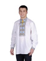 Вышиванка «Васильки» льняная