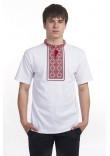 Футболка «Милодар» біла з червоним орнаментом