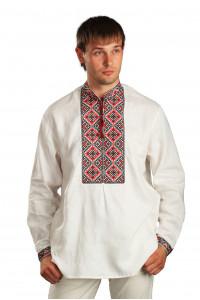 Вишиванка «Святослав» на білому льоні