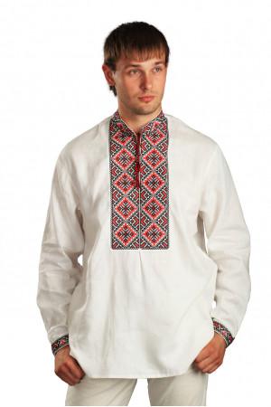 Вышиванка «Святослав» на белом льне