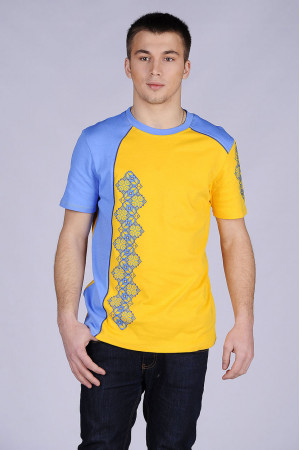 Футболка «Владислав» сине-желтая