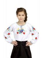 Вышиванка для девочки «Васильковое поле»