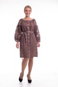 Платье «Иванна» коричневого цвета
