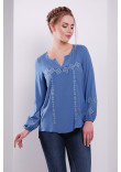 Блуза «Світогора» блакитного кольору