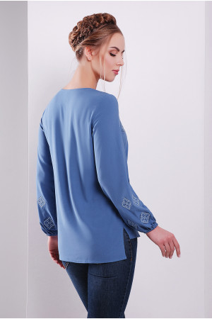 Блуза «Свитогора» голубого цвета