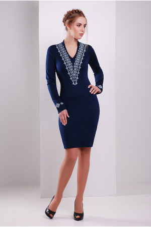 Платье «Агния» синего цвета