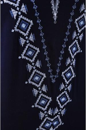 Блуза «Бажана» темно-синього кольору