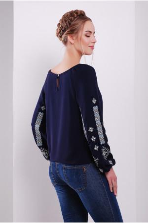 Блуза «Оберегова» темно-синього кольору