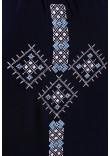 Вишиванка «Оберегова» темно-синього кольору