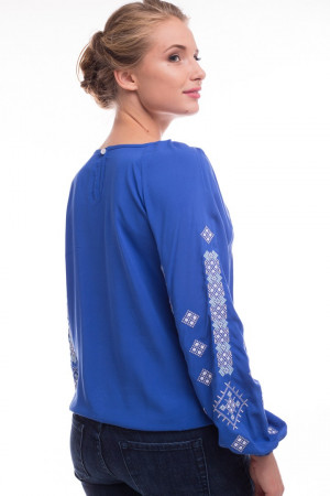 Вышиванка «Обереговая» голубого цвета