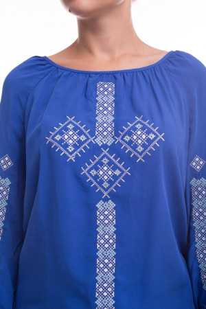 Блуза «Оберегова» блакитного кольору