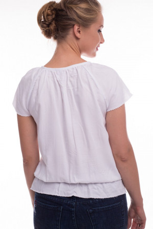 Блуза «Ладослава» белого цвета