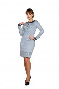 Платье «Маланка» серого цвета