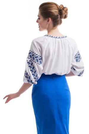 Вишиванка «Біляна» з синьо-блакитним орнаментом