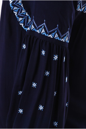 Вышиванка «Заряна» темно-синяя
