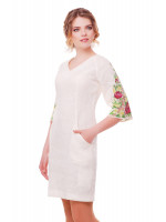 Сукня «Півонії» молочного кольору