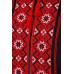 Вышиванка «Светозар» черного цвета с красно-бордовым орнаментом