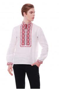 Вышиванка «Мирослав» белого цвета