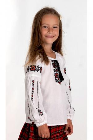 Вишиванка для дівчинки «Мирося» білого кольору