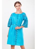 Платье «Лучезара» бирюзового цвета