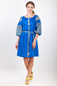 Платье «Лучезара» цвета индиго