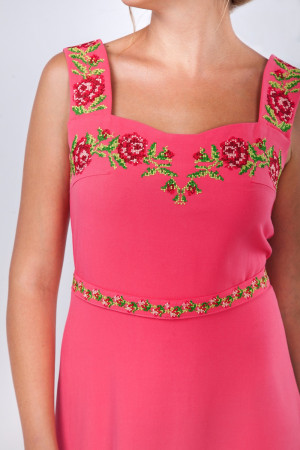 Платье «Мелания» кораллового цвета