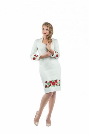 Платье «Маковая роса» молочного цвета