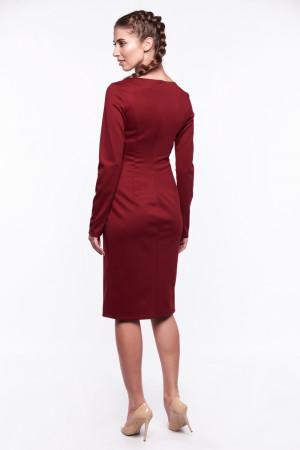 Сукня «Златоцвіта» бордового кольору