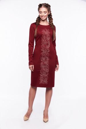 Платье «Златоцвета» бордового цвета
