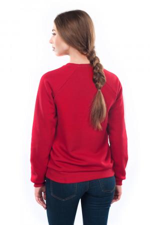 Світшот жіночий «Жива» бордового кольору