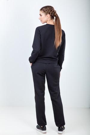 Свитшот женский «Жива» черного цвета